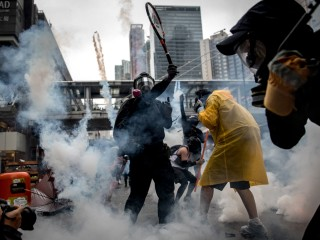 Hong Kong police use water cannon on protesters as pro-democracy fight continues