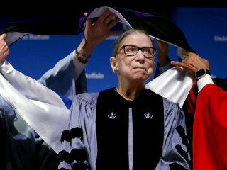 Ruth Bader Ginsburg makes first public appearance following cancer treatment