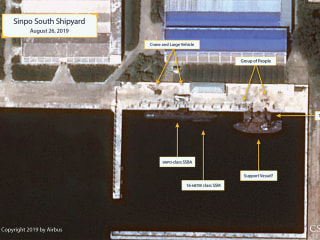 Photos indicate North Korea may be building submarine capable of launching nuclear missiles
