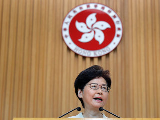 Hong Kong's Carrie Lam remains defiant as violence at protests worsens