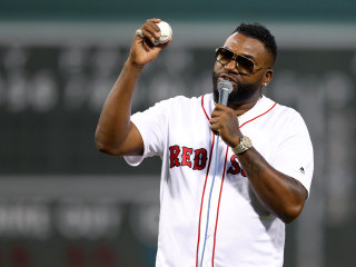 David Ortiz throws first pitch at Boston Red Sox game after recovering from being shot