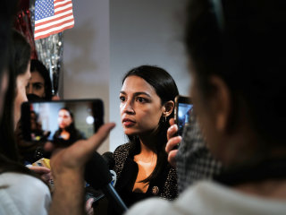 Alexandria Ocasio-Cortez's face is consumed by fire in new Republican PAC ad