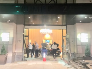 3 hurt when car crashes into lobby of Trump Plaza in New Rochelle, New York