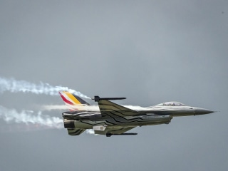 Belgian F-16 fighter jet crashes in France, pilot hits power line