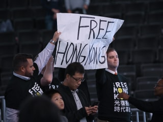 'Free Hong Kong' signs confiscated at Wizards basketball game