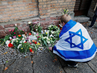 "American inside German synagogue where worshippers thwarted attack, said it felt ""like an eternity"""