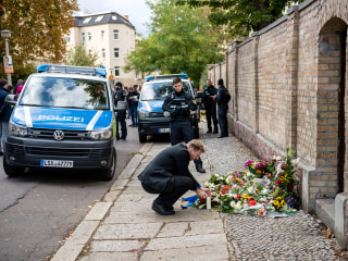 German killer gunned down 2 outside synagogue after failing to get inside, officials said