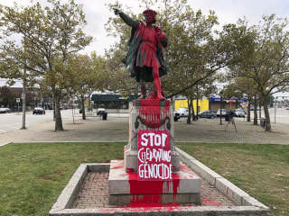 Christopher Columbus statues in Providence, San Francisco vandalized on Columbus Day