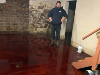 Iowa family's basement flooded with animal blood from neighboring meat locker