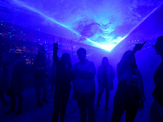Water world: Art installation at Columbia uses light to teach about climate change