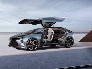 This Lexus concept car can hit 124 mph — and carry your suitcases by drone
