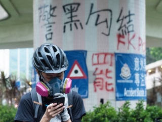 Hong Kong's student protesters catch up on class the same way they organize: On an encrypted messaging app