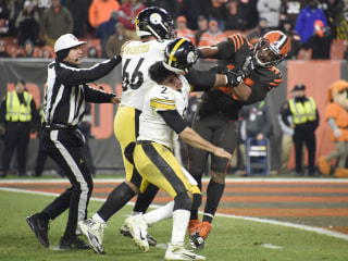 'Inexcusable': Browns' Myles Garrett denounced for helmet attack on Steelers' QB