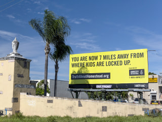 Billboards in Florida denounce 'locking up' migrant kids ahead of World Children's Day