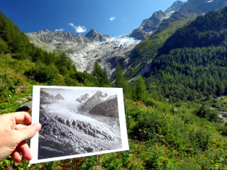 Dramatic Swiss glacier retreat captured in old photos