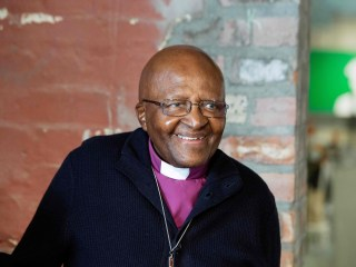 South African anti-apartheid campaigner Archbishop Tutu in hospital