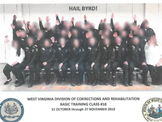 Three fired over Nazi salute photo with West Virginia corrections employees