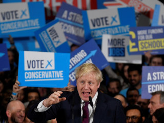 Boris Johnson set to win a clear majority in U.K. election, exit poll suggests