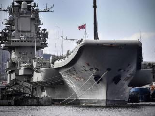 Major fire breaks out on unlucky Russian aircraft carrier