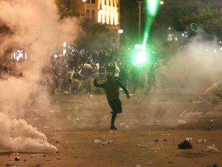 Protests turn violent for second day in Lebanon's capital