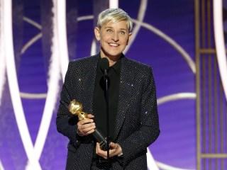DeGeneres applauds 'power of television' during Golden Globes speech