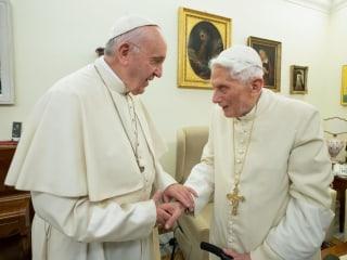 Retired Pope Benedict XVI breaks silence to reaffirm priest celibacy