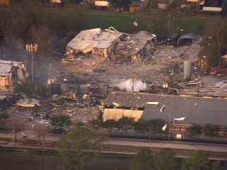 Houston building explosion is felt for miles, scatters debris; 1 worker missing
