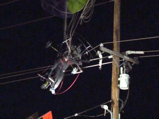 California paraglider stuck for three hours after colliding with power lines
