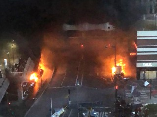 Huge fire breaks out near Gare de Lyon train station in Paris