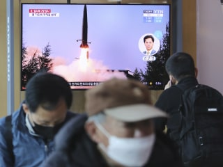 North Korea launches projectiles into the Sea of Japan