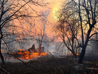 Chernobyl radiation levels spike dramatically as forest fires burn in exclusion zone