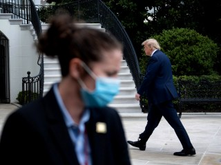 The week the White House was masked