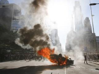Angry protests blaze across America