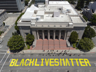 Two accused of painting over Black Lives Matter mural charged with hate crime in California