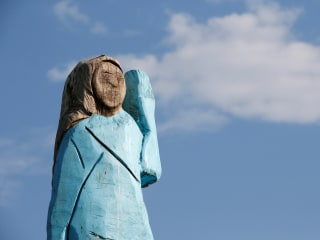 Melania Trump statue set on fire near her hometown in Slovenia