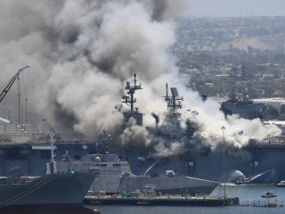 21 reported injured after fire aboard military ship in San Diego