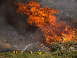 Diesel soot is behind the giant Apple wildfire in California, officials say