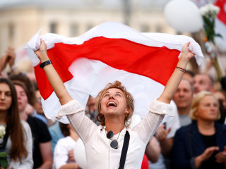 Tens of thousands defy crackdown and years of authoritarianism to protest Belarus dictator
