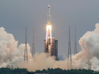 Debris from China's Long March 5B crashes back to Earth in Indian Ocean