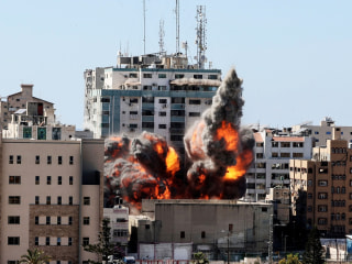 Israel airstrikes kill 8 children, flatten building housing Associated Press, Al Jazeera offices