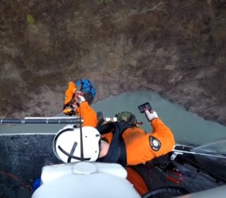 Man Rescued After Spending Four Days Stuck Above Dam