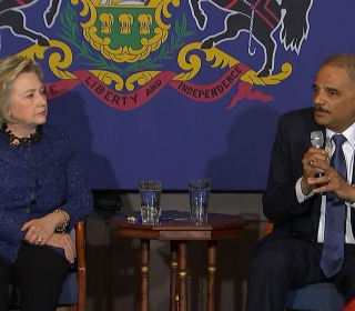 Holder: Clinton Has Great Ideas for Criminal Justice Reform