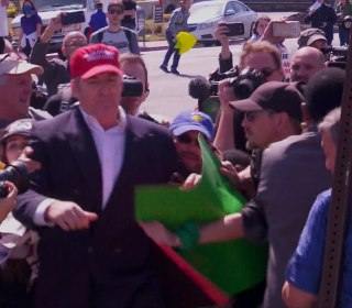 Trump Supporter Roughed Up Outside Event
