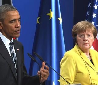 Obama Commends Merkel for Open-Door Refugee Policy