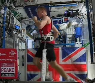 Astronaut Runs Marathon in Space