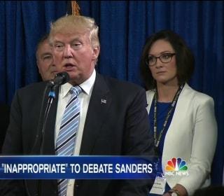 Trump Backs Down From Hypothetical Debate With Sanders