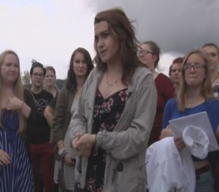 High School Students Protest for Right Not to Wear a Bra