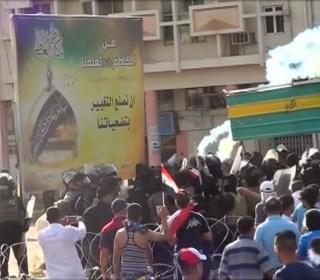 Troops Fire Tear Gas to Break Up Green Zone Protest