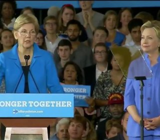 Warren and Clinton Campaign Together in Swing State of Ohio