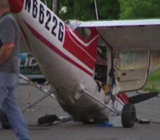 Plane Crashes on Detroit Street